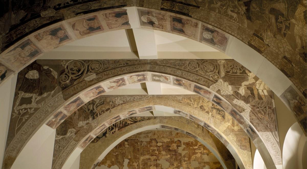 Frescos del Monasterio de Sijena en su localización actual