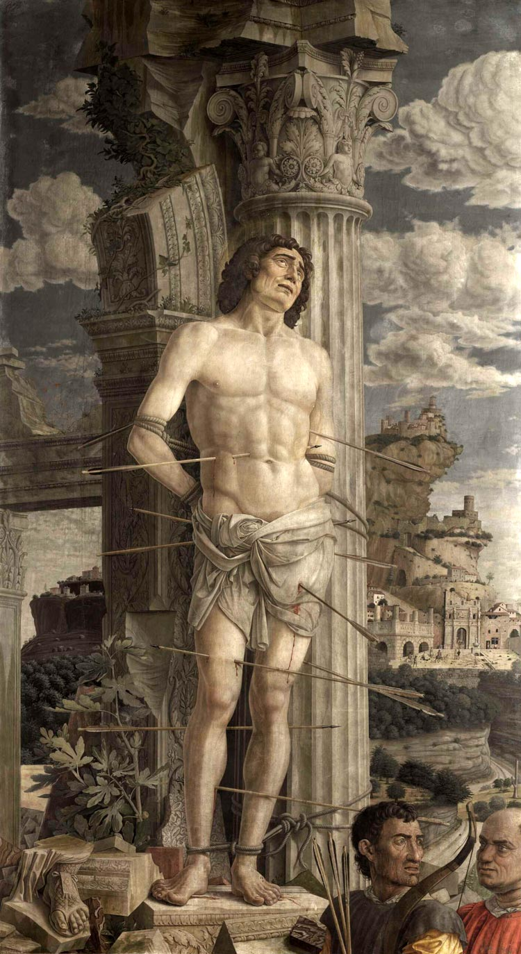 San Sebastián. Andrea Mantegna, 1480.